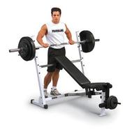 Домашняя силовая скамья BODY SOLID POB-44, жим, пресс, мышцы ног, фото 1