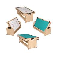 Игровой стол WEEKEND BILLIARD COMPANY 2 в 1 (пул + аэрохоккей) TWISTER (дуб), фото 1