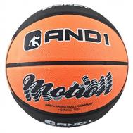 Мяч для баскетбола - AND1 MOTION BLACK/ORANGE, фото 1