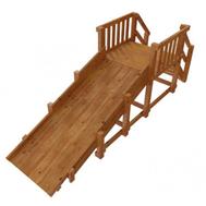 Зимняя деревянная горка для детей - САМСОН УРАЛ (лак), высота 1,5 метра, фото 1