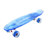 Скейтборд прозрачный PLAYSHION FS-PS002B (Синий), фото 1